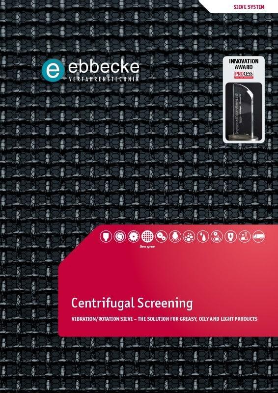 Ebbecke Verfahrenstechnik Flyer Centrifugal Screening