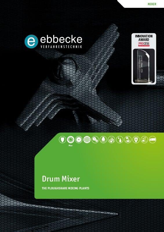 Ebbecke Verfahrenstechnik Flyer Drum Mixer
