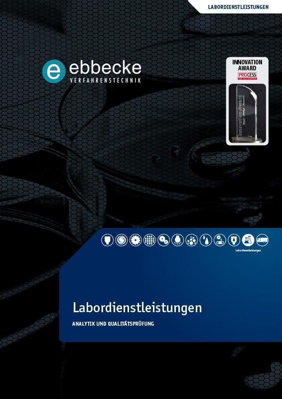 Ebbecke Verfahrenstechnik Flyer Labordienstleistung