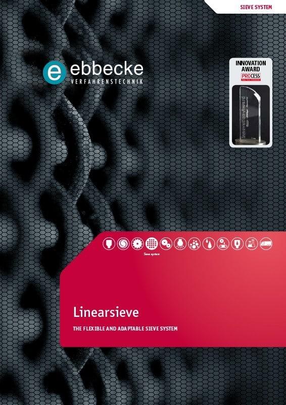 Ebbecke Verfahrenstechnik Flyer Linearsieve