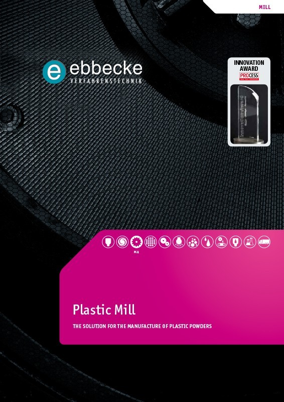 Ebbecke Verfahrenstechnik Flyer Plastic Mill