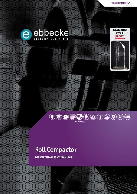 Ebbecke Verfahrenstechnik Flyer Roll Compactor