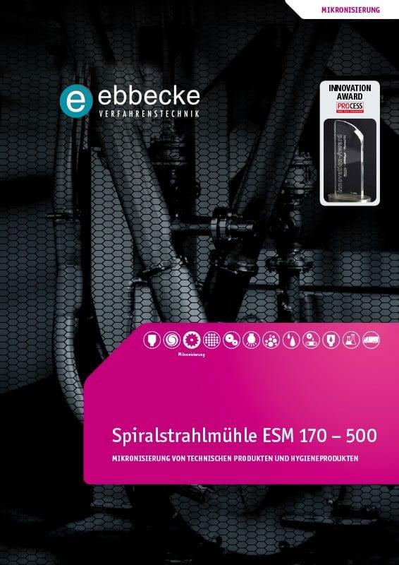 Ebbecke Verfahrenstechnik Flyer Spiralstrahlmuehle