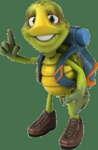 Monti als Pfadfinder, die Ebbecke-Schildkröte für den Bereich Innovative Green Technology
