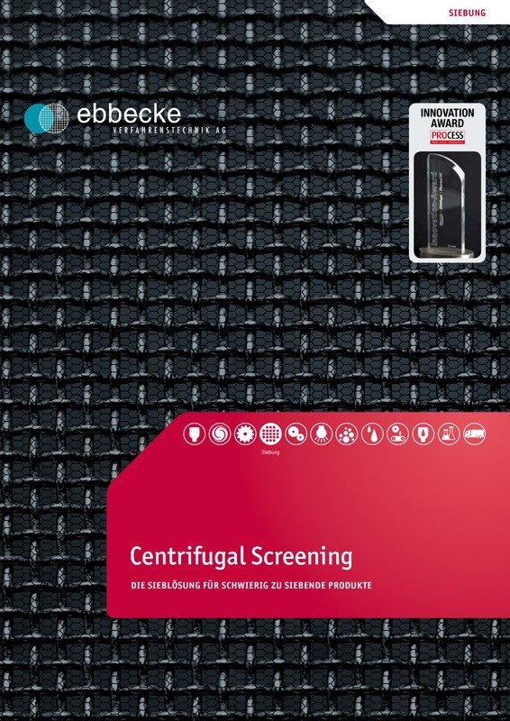 Ebbecke Verfahrenstechnik Flyer Centrifugal Screening