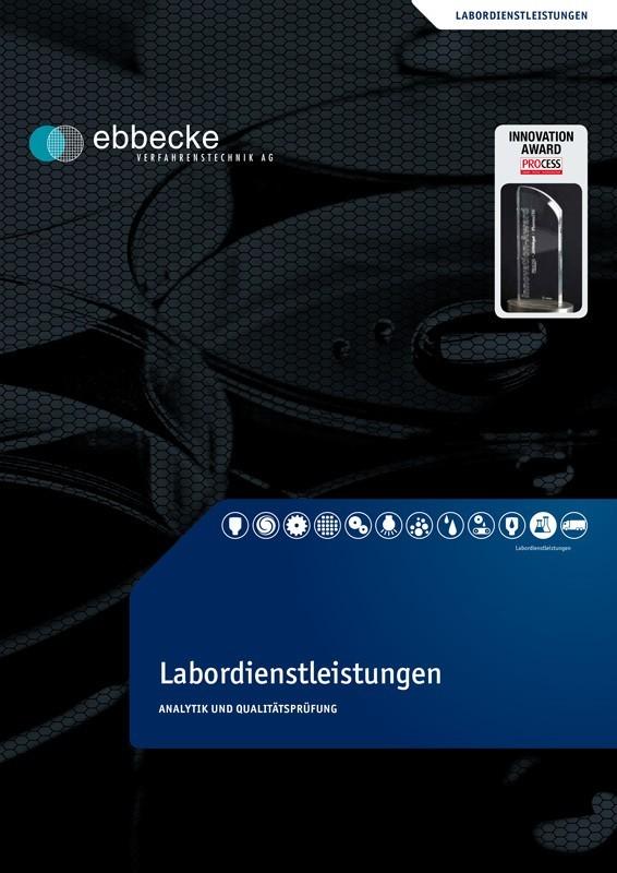 Ebbecke Verfahrenstechnik Flyer Labordienstleistungen