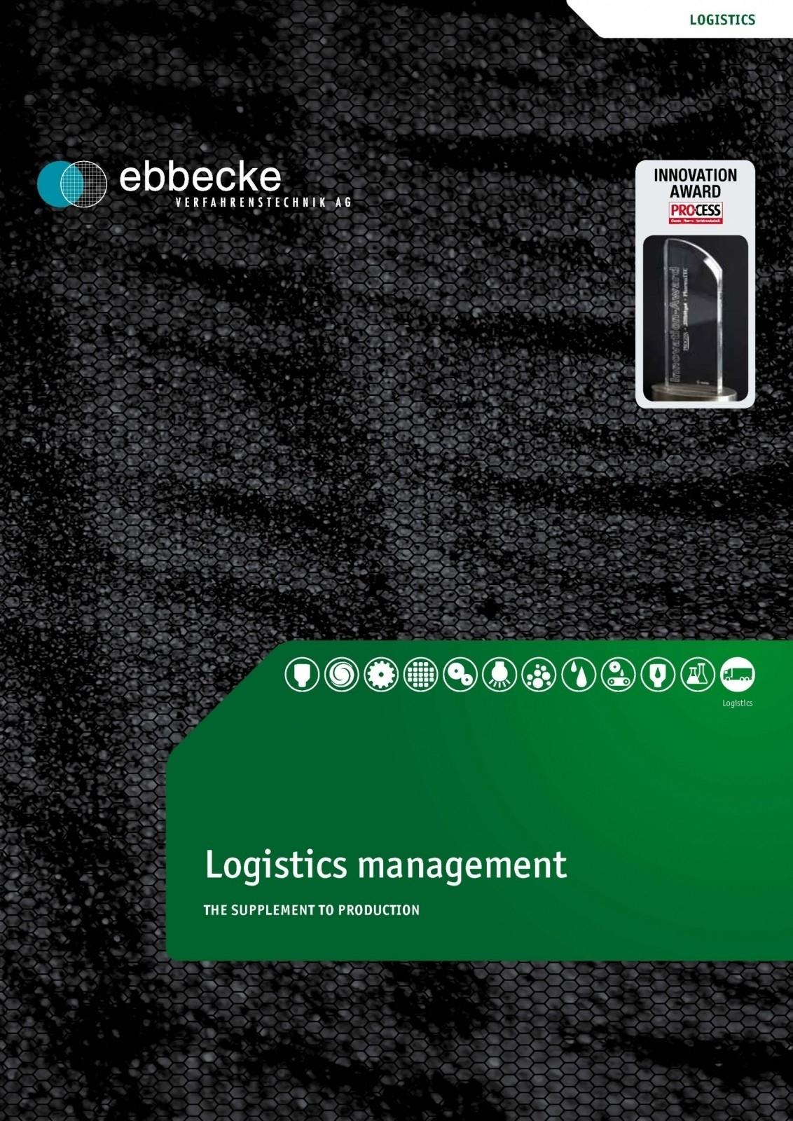 Ebbecke Verfahrenstechnik Flyer Logistik