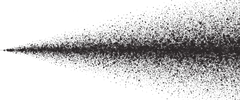 Prinzip der Sprühtrocknung. Zerstäubte Partikel zur Trocknung flüssiger Materialien bei Ebbecke Verfahrenstechnik