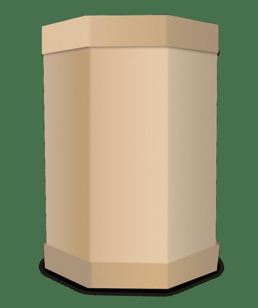 3D-Darstellung eines Oktabins