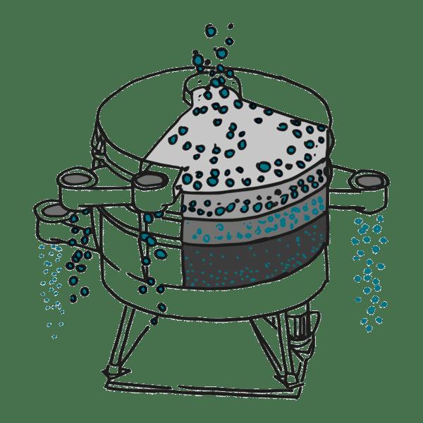 Ebbecke Verfahrenstechnik Taumelsiebmaschine illu